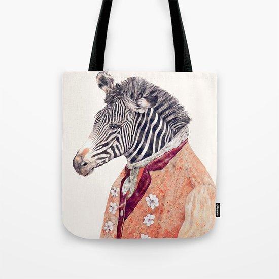 Zebra Cream Tote Bag