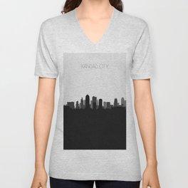 City Skylines: Kansas City Unisex V-Neck