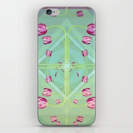 Tulips in green shades iPhone Skin
