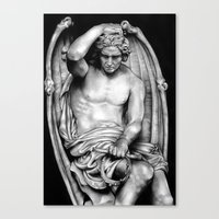 demon Canvas Prints featuring Demon by leonmorley