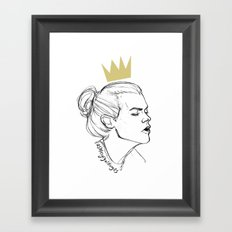 King Bun Framed Art Print