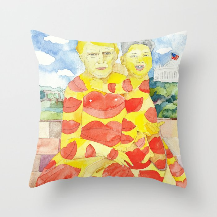 Donald and Kim, a Love Story Throw Pillow