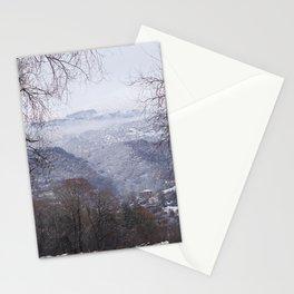 Ohrid, Macedonia winter scene Stationery Cards