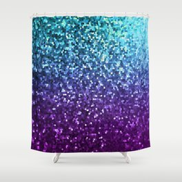 Mosaic Sparkley Texture G198 Shower Curtain