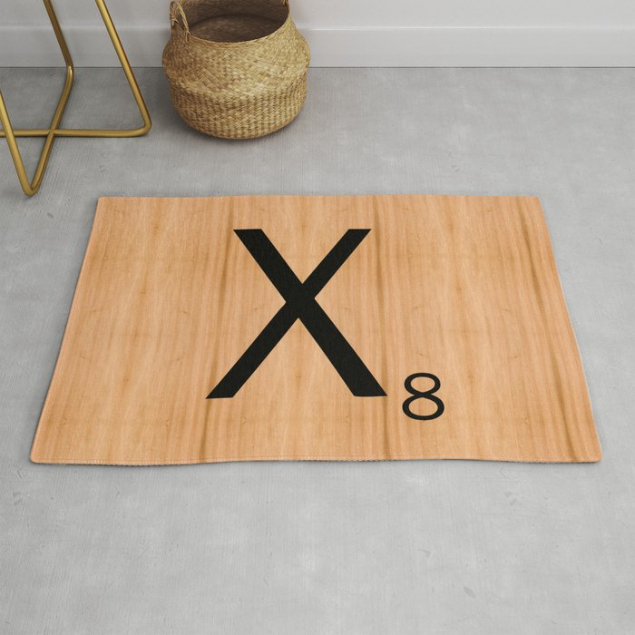 Peachy Scrabble Letter Tile X Rug By Cumulusfactory Uwap Interior Chair Design Uwaporg