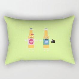 Wedding Beerbottle couple T-Shirt Dn4bx Rectangular Pillow