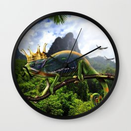 Iguana king Wall Clock
