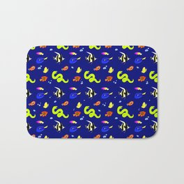 Sleeping with the fishes Bath Mat