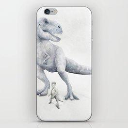 Trex Dinosaur Watercolor iPhone Skin