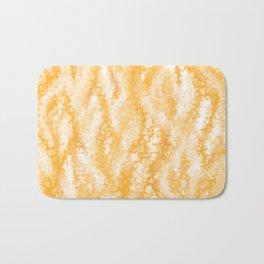 Honey Gold Tropical Abstract Bath Mat
