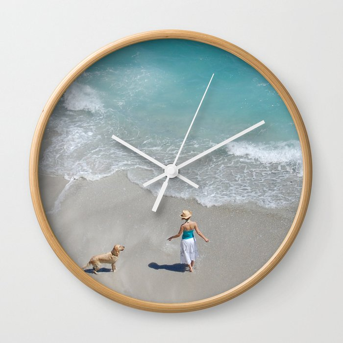 Morning on Clifton Beach Wall Clock
