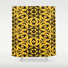 Black and Gold Kaleidoscope 2613 Shower Curtain