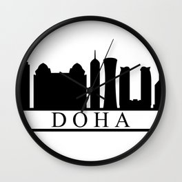 skyline doha Wall Clock