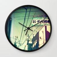 tokyo Wall Clocks featuring TOKYO by lizbee