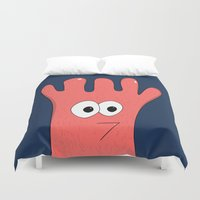 greg guillemin Duvet Covers featuring Monster Greg by Chelsea Herrick