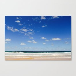 The Silence of waves Canvas Print