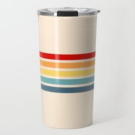 Takaakira - Classic Rainbow Retro Stripes Travel Mug