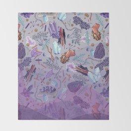 violet mountain dreams Throw Blanket