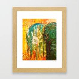 Elephant Painting Framed Art Print