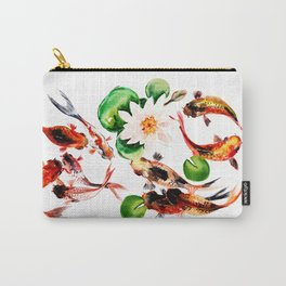 Koi Fish in Pond, Feng Shui Carry-All Pouch