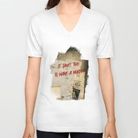 dramatical murder V-neck T-shirts featuring Murder Board by Sybille Sterk
