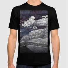 Millenium Falcon LARGE Black Mens Fitted Tee