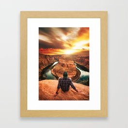 on top of canyonlands Framed Art Print