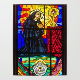 Stained Glass of the Cathedral Almudena Poster