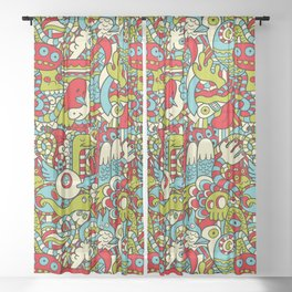 Monsters Party Sheer Curtain