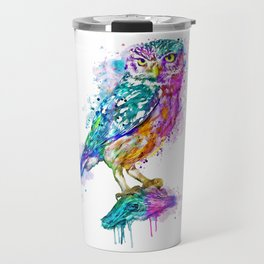Colorful Owl Travel Mug