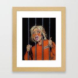 Lock Her Up Framed Art Print