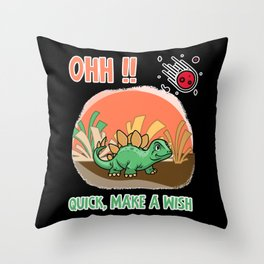 Funny dinosaur t-shirt for dino t-shirt gift Throw Pillow