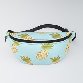 Blue Tropical Pineapple Pattern Fanny Pack