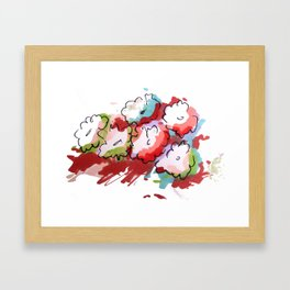 Saturated Flowers Framed Art Print