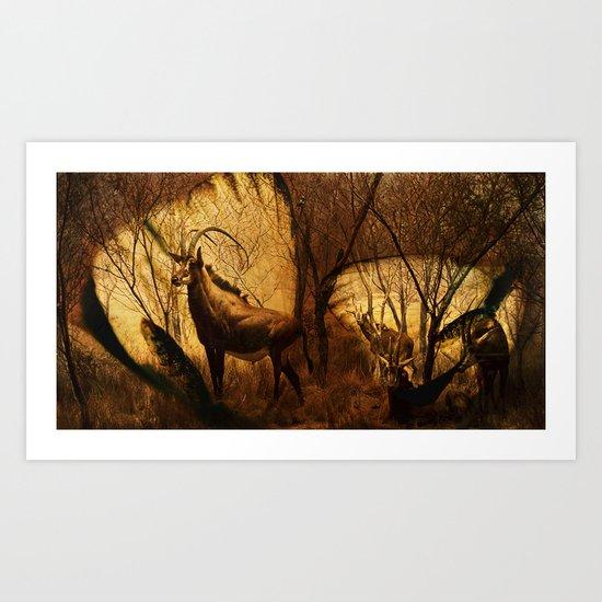 Diorama :: Antelope Art Print