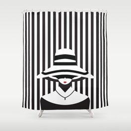 Fashionable Stripes Shower Curtain