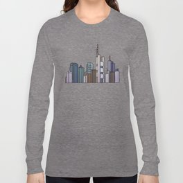 Frankfurt skyline Long Sleeve T-shirt