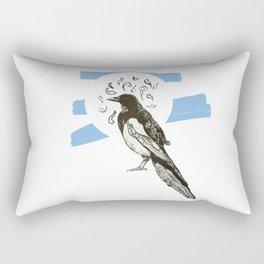 One for sorrow Rectangular Pillow