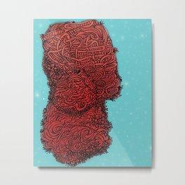 Rasberry Spaghetti Metal Print