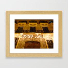 Happy Holidays (Valencia, Spain) Framed Art Print