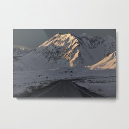 Snowy Mammoth Mountain Metal Print