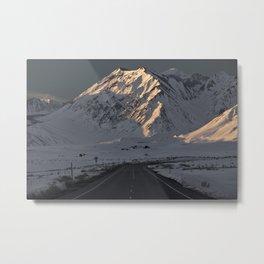 Snowy Mammoth Mountain Metal Print