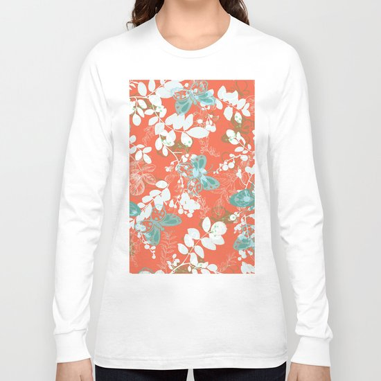adrienne coral Long Sleeve T-shirt