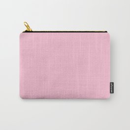 Hibiscus Solid Pink Bloom Accent Carry-All Pouch