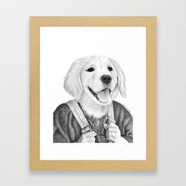 My Boy The Golden Retreiver Framed Art Print