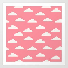 Clouds Pink Art Print