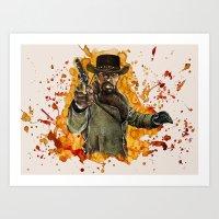 django Art Prints featuring Django by thinkinink