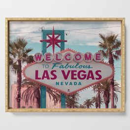 Welcome To Fabulous Las Vegas Nevada Serving Tray