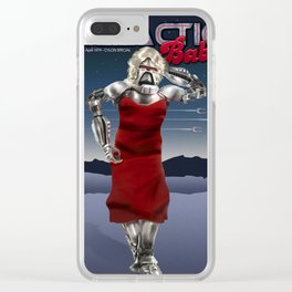 Galactic Cover Girl Clear iPhone Case