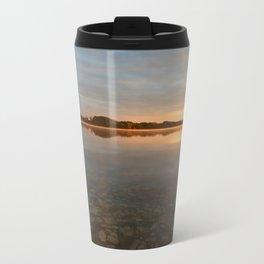 Sunrise at autumn lake Travel Mug